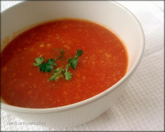 zupa z soczewicy, zupa pomidorowa
