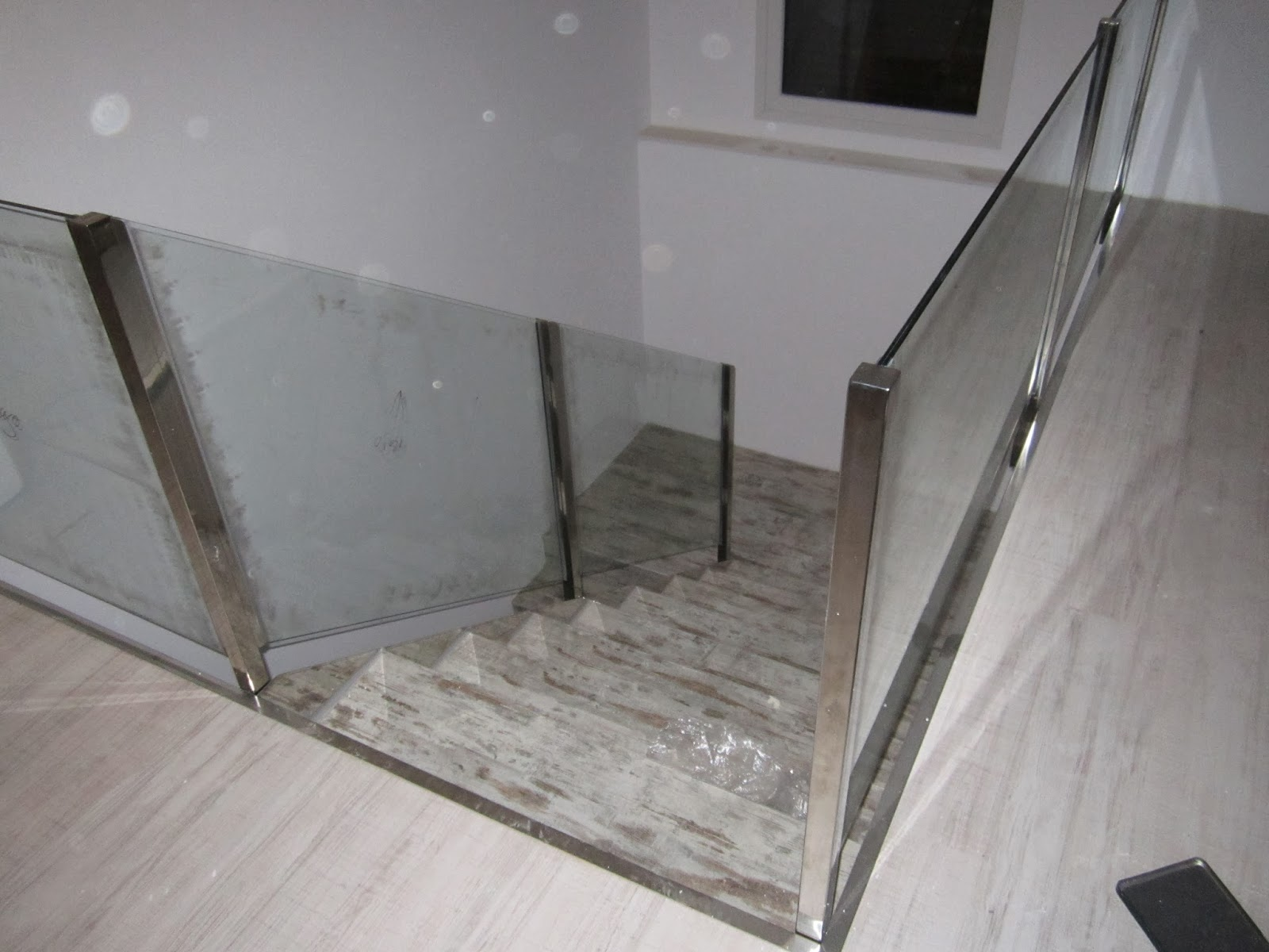 Norbel carpinteria met lica y acero inoxidable barandilla de escalera de cristal y acero inox - Barandilla cristal escalera ...