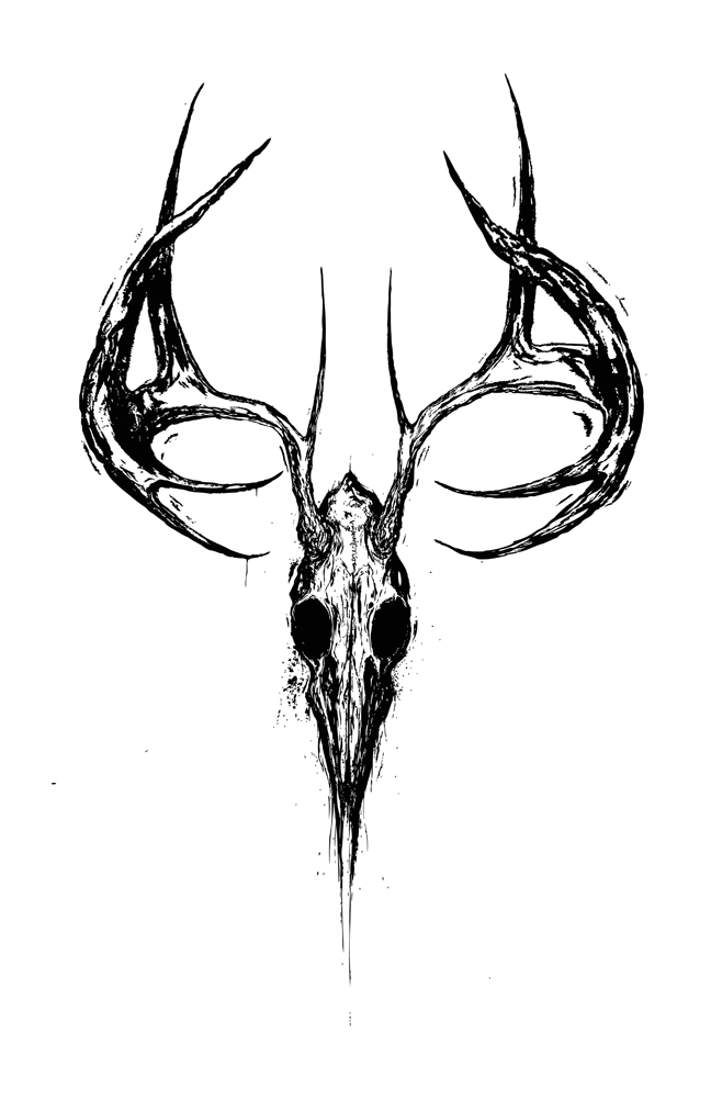 deer skull coloring pages - photo#17