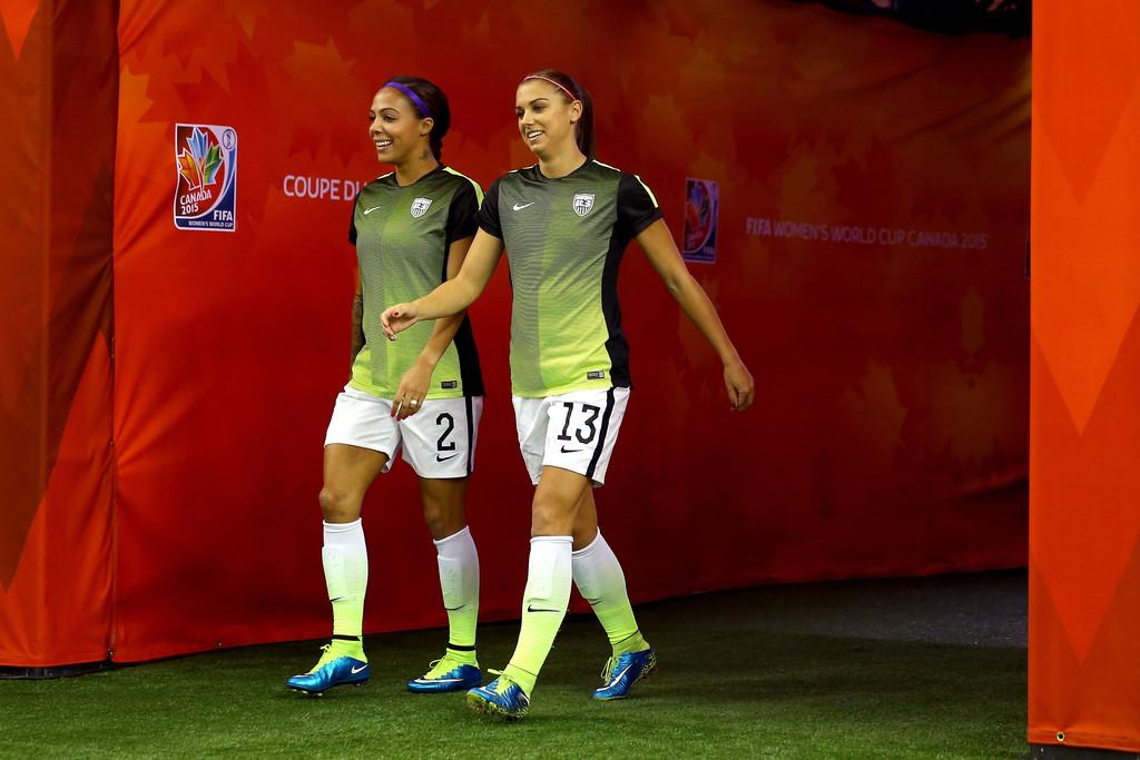 Alex Morgan plays the USA vs Germany FIFA Women's World Cup Semi-Final 2015