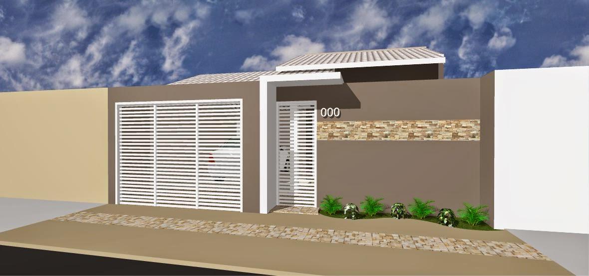 Fachadas para casas pequenas ap em decora o for Fachadas de frente de casas pequenas
