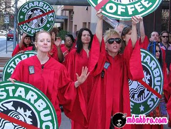 demo anti Starbucks