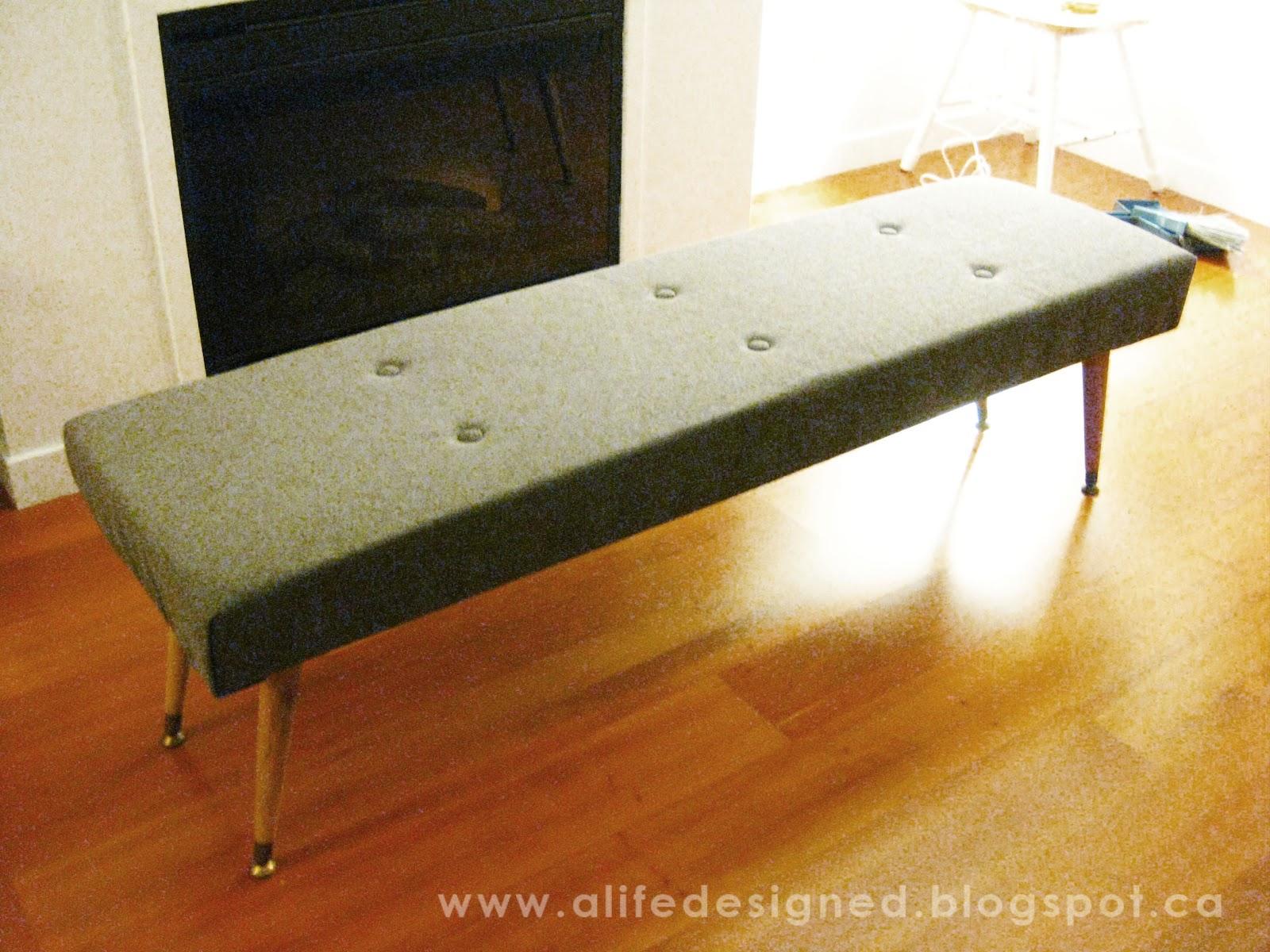 life designed diy mid century bench - life designed