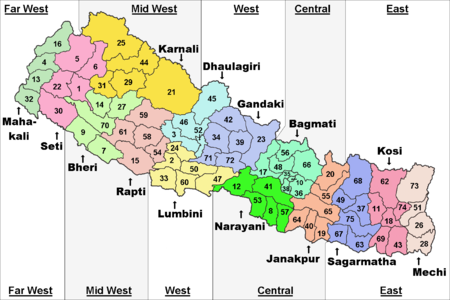 Zones Districts Nepal