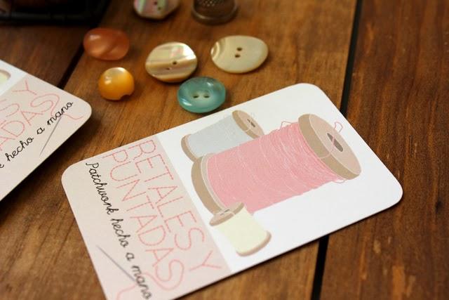 patchwork tarjetas de visita sello personalizado hermanas bolena