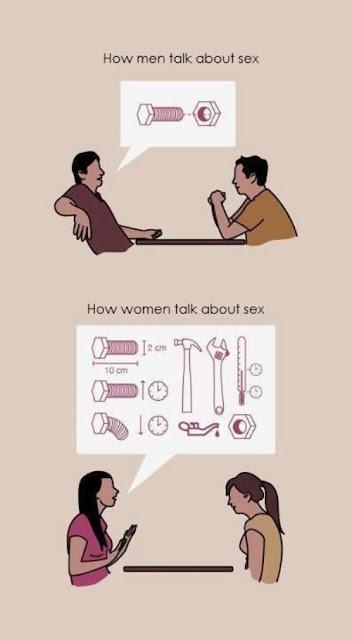 Wenn Männer und Frauen über Sex reden!