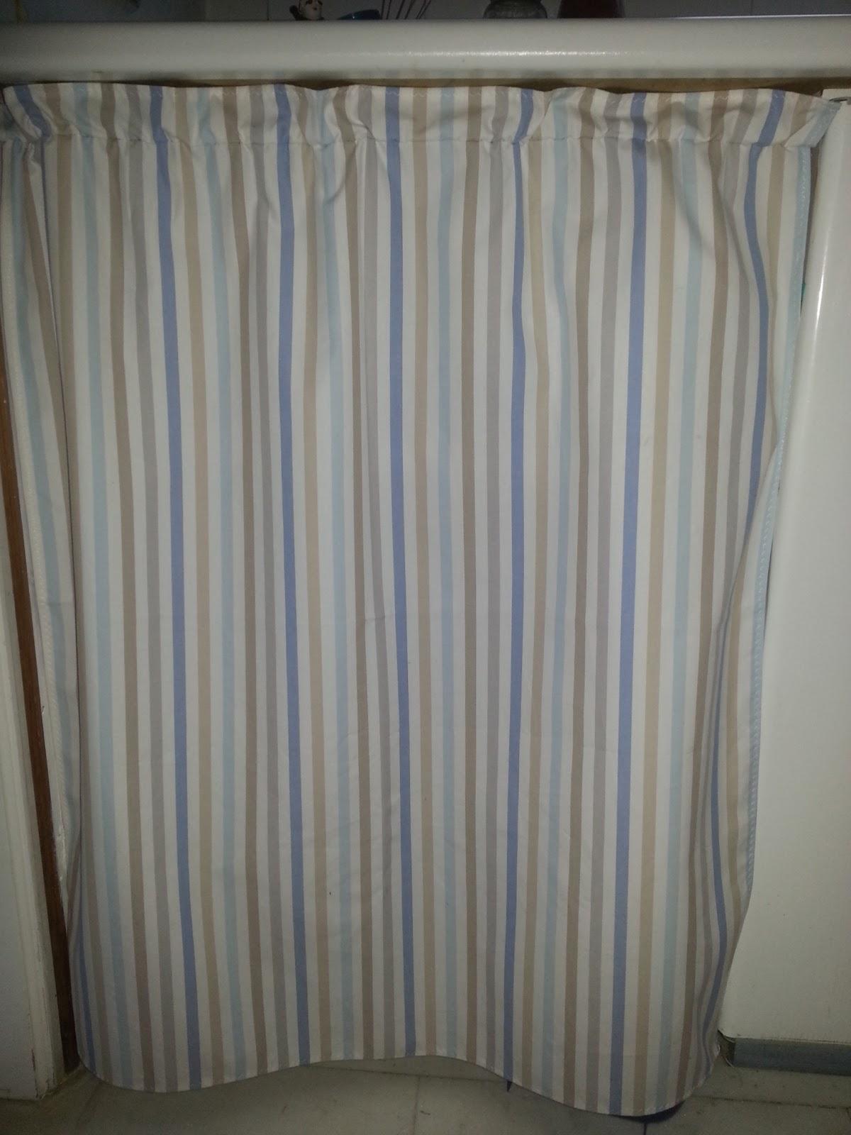 Hazlo todo t hacer una bonita cortina para tu cocina for Cortinas de cocina originales