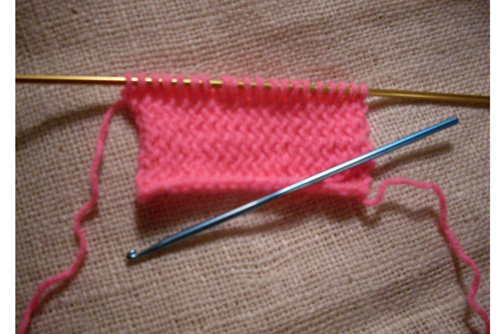 Craftybegonia: How to Crochet with Knitting Needles Tutorial--- 2