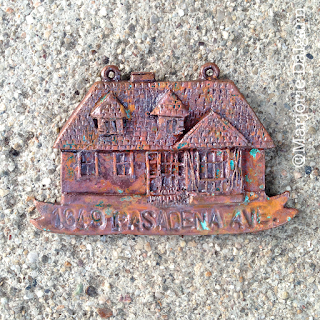 living with ThreeMoonBabies | copper clay house ornament with salt & vinegar patina