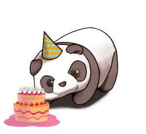 panda birthday crystal panda happy birthday panda )