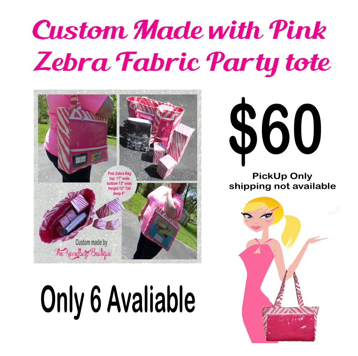 Pink Zebra Bag