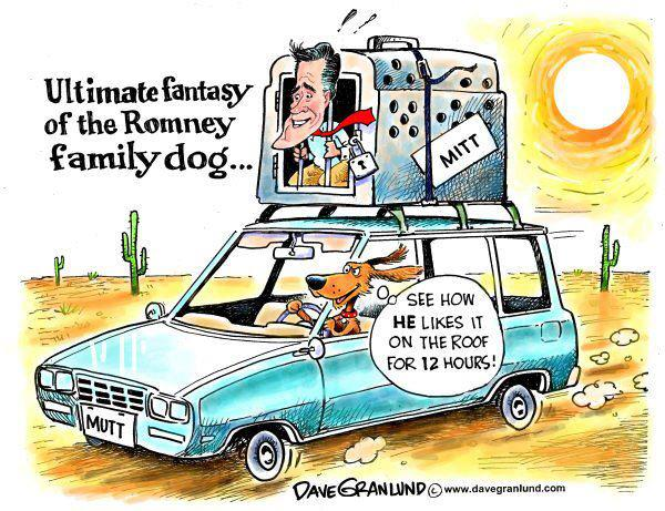 Image result for mitt romney dog car