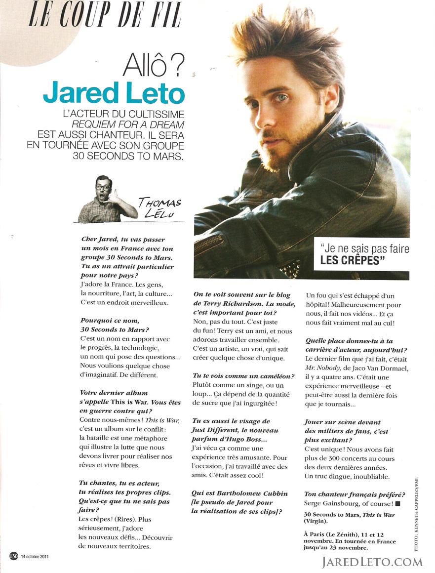 Jared Leto Interview o... Jared Leto Interview