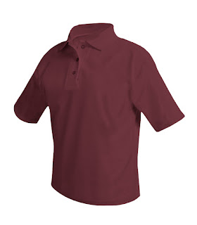 Polo shirt burgundy for boys