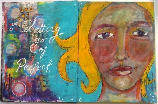 Whoopidooings: Carmen Wing: Letting Go of Perfect Art Journal page