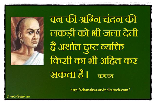 Chanakya, Chanakya Niti, Sandalwood, Forest, Fire, Wicked Person,