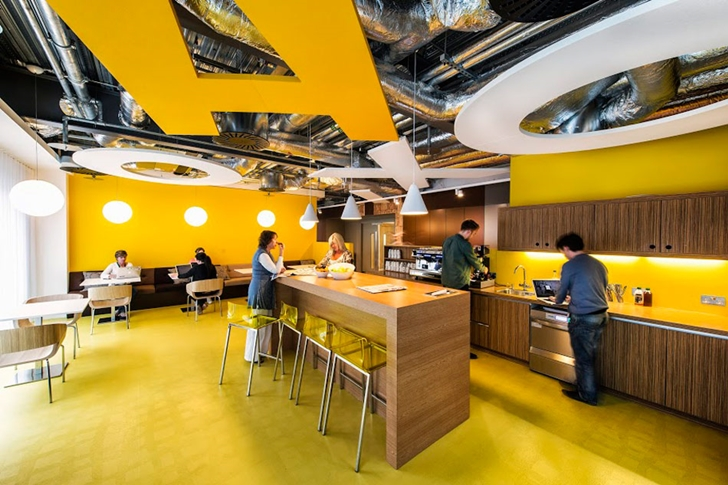 Restaurant in Google office in Dublin
