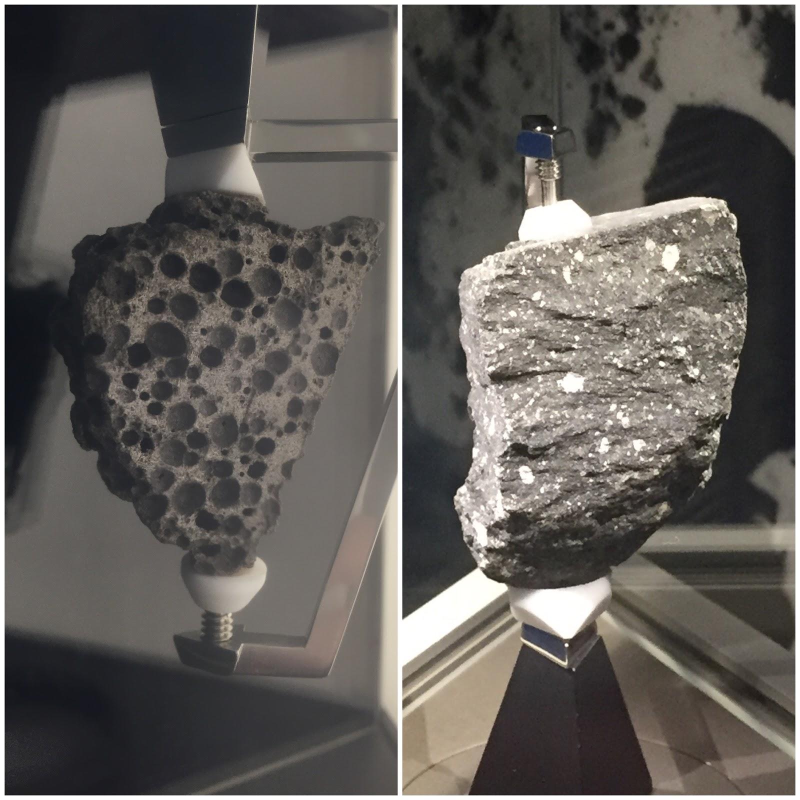 moon rock displays