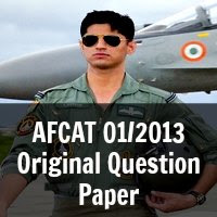 AFCAT 01/2013 Original Question Paper