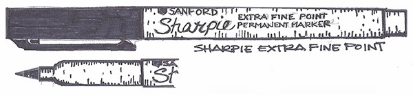 Ultra Fine Sharpie vs Extra Fine Pen 105 Sharpie Extra Fine