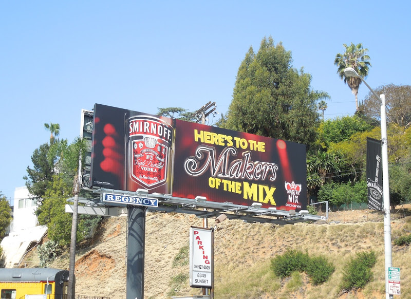 Smirnoff Makers of the mix billboard
