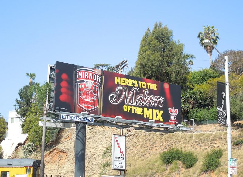 Smirnoff Makers of the mix billboard