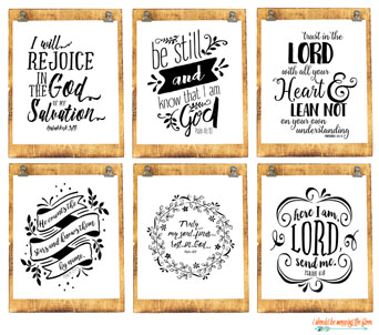 My latest scripture printable bundle in my shop: