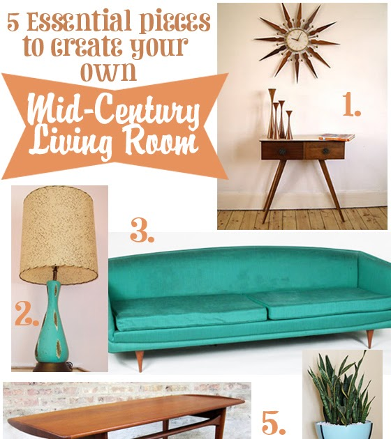 Oh So Lovely Vintage Create Your Own Mid Century Living Room