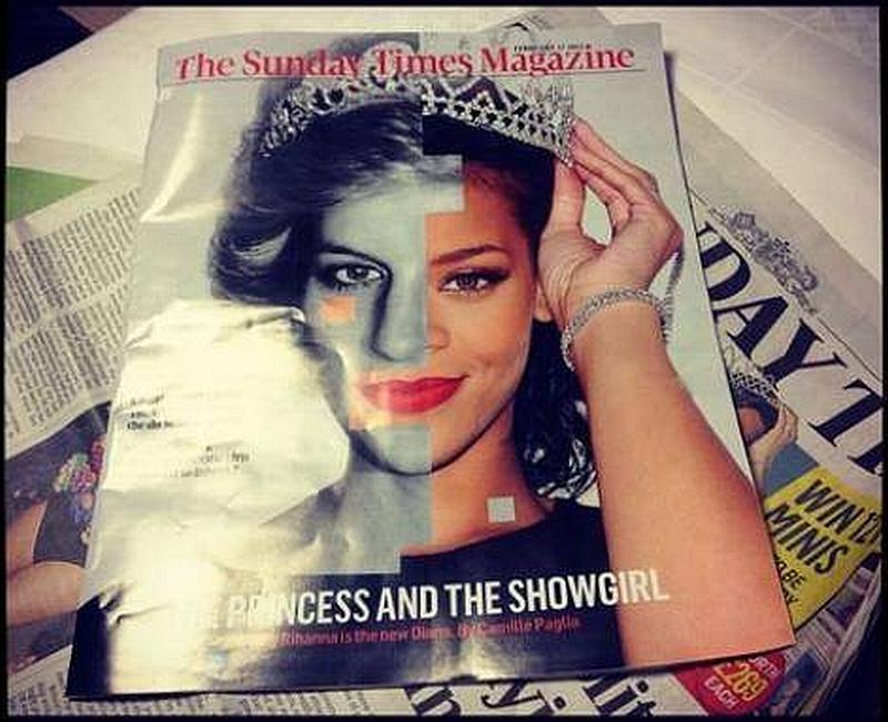 Rihanna compared princess diana uk sunday times instagram beautiful