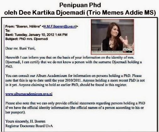 Trionya Memes Addie MS Penipu PhD Universitas Amsterdam Bernama Dee Kartika Djoemadi.jpg