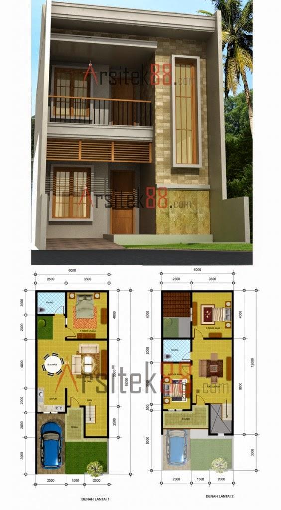 Desain Rumah Minimalis 2 Lantai 8 X 12 Foto Desain Rumah Terbaru