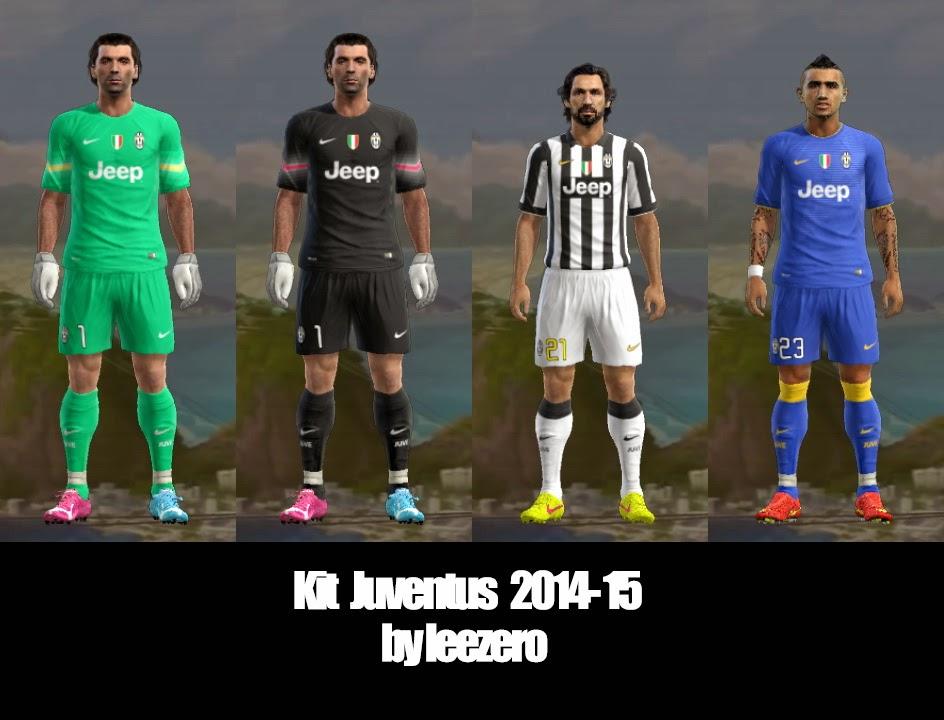 PES 2013 Juventus 2014-15 Kits by leezero
