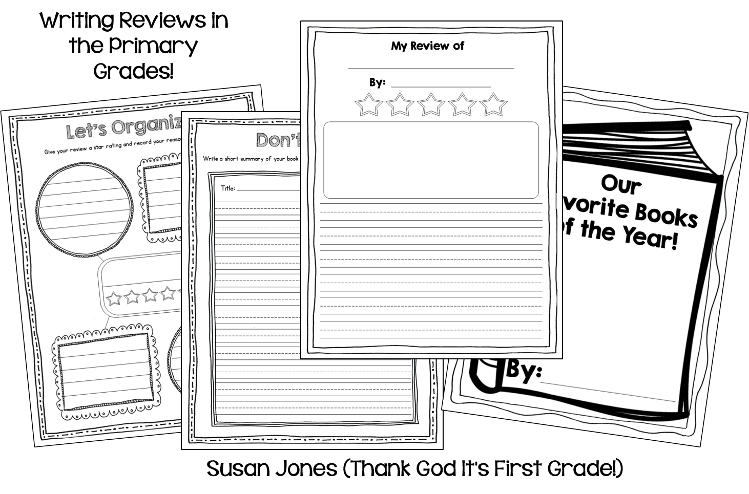 Book Jacket Graphic Organizer ~ Writing reviews in st or nd grade opinion fun