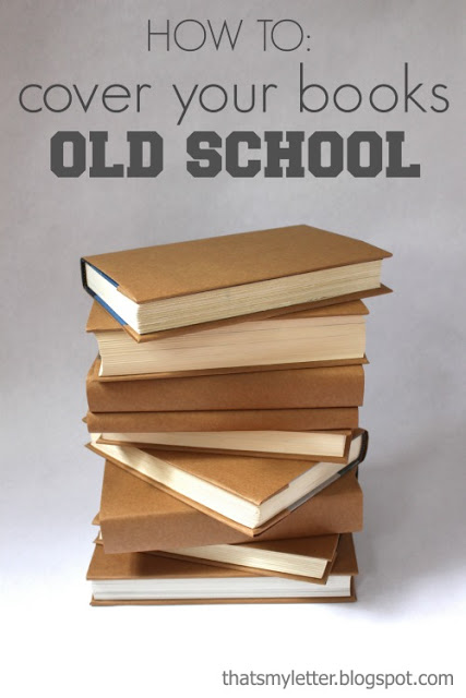 Diy Book Cover Paper Bag : That s my letter back to school diy projects