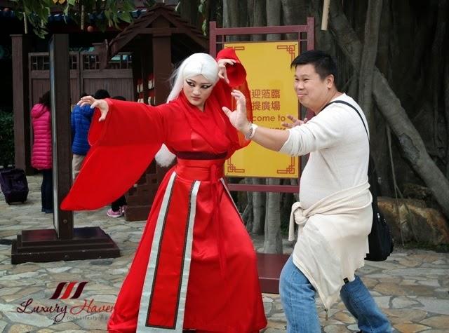 ngong ping village kung fu demonstration