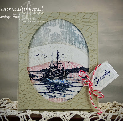 Our Daily Bread Designs, The Waves on the Sea, Fishing Net  Old Flag background