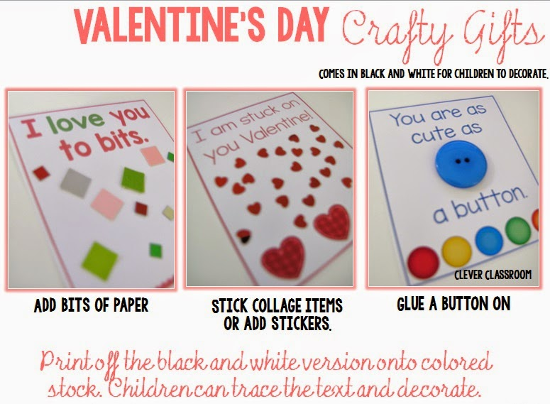 Valentine's Day Crafty Ideas all in a FREE download