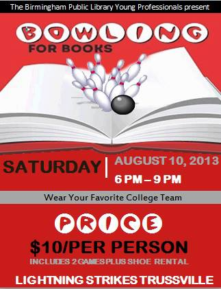Bowling for Books flyer