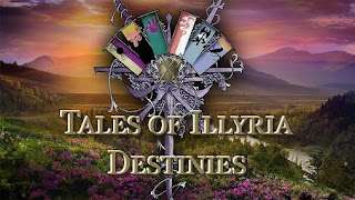 Screenshots of the Tales of Illyria: Destinies for Android tablet, phone.