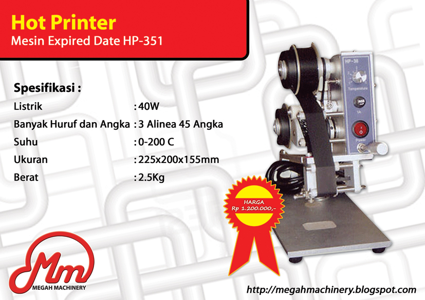 Hot Printer (Mesin Expired Date)