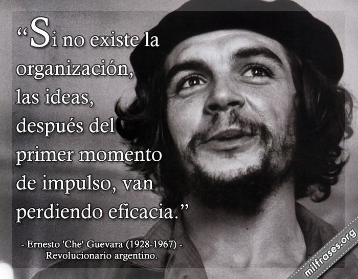 Si no existe la organización, las ideas, después del primer momento de impulso, van perdiendo eficacia. Ernesto