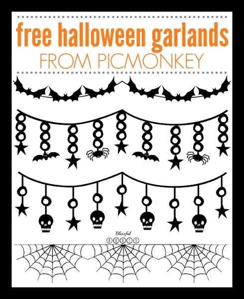 Free Halloween Garlands from PicMonkey