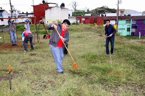 Llama regidor Valentín Flores a ciudadanos a involucrarse en recuperación de áreas verdes