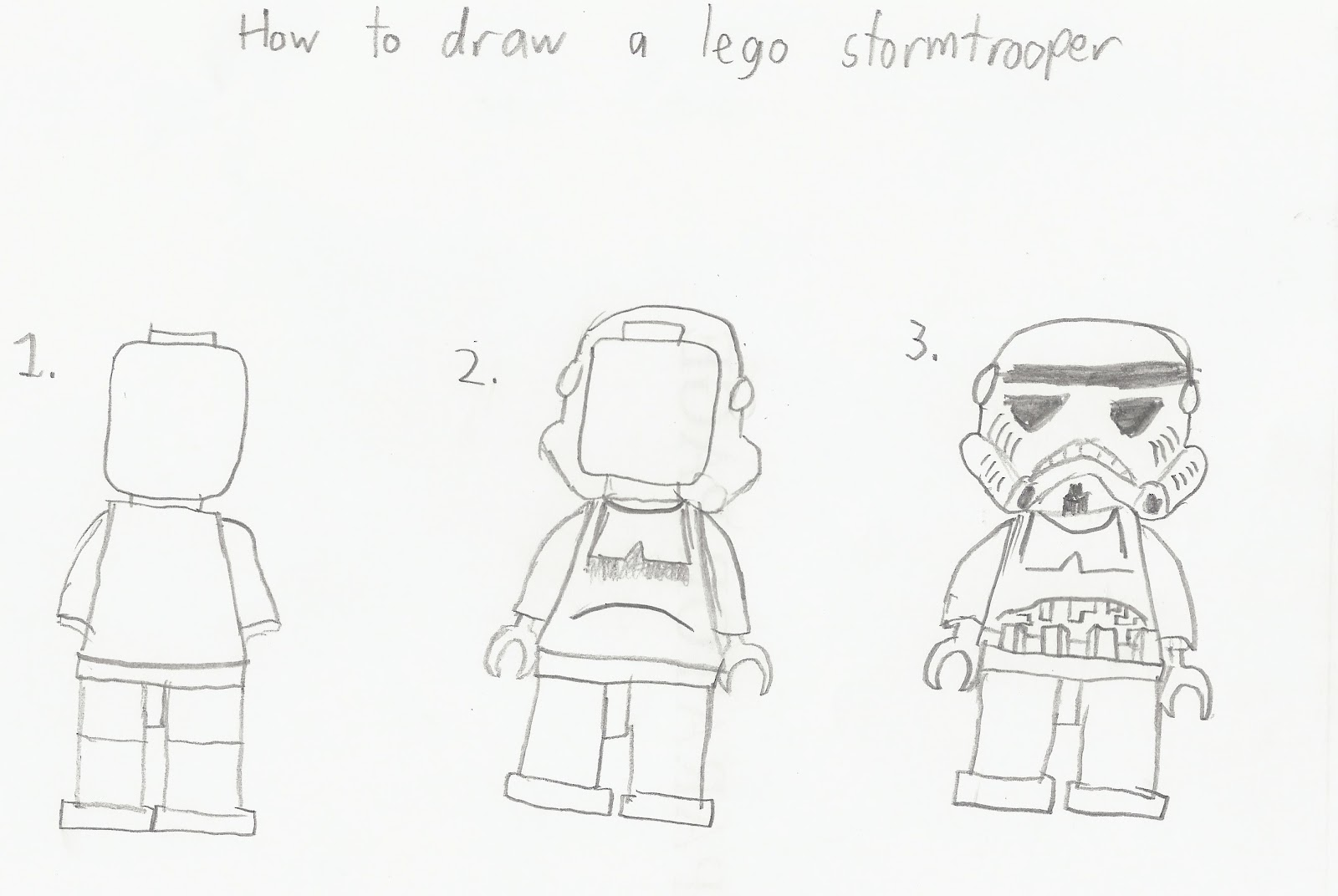 How to draw Lego