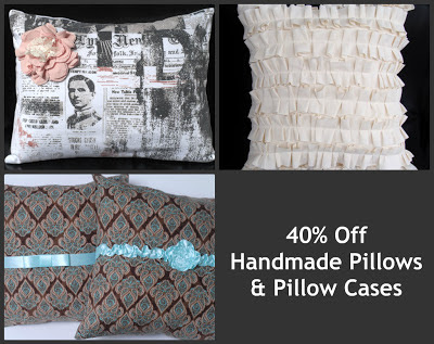 buy handmade pillow cases on sale now through SSorensenDesigns