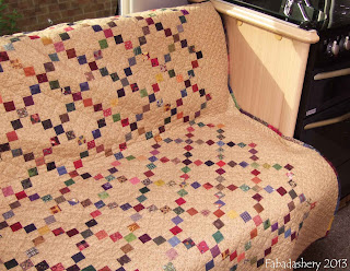 Single Irish Chain Quilt - Ideal for a Camper Van!