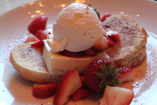 Strawberry shortcake at Nix's Mate, Boston, Mass.