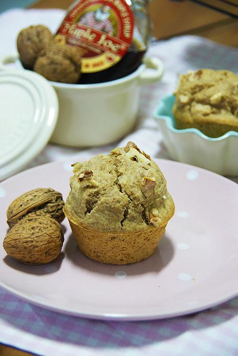 Muffins De Sirope De Arce Y Nueces