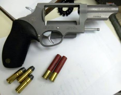The firearm pictured was discovered in a carry-on bag at SDF.