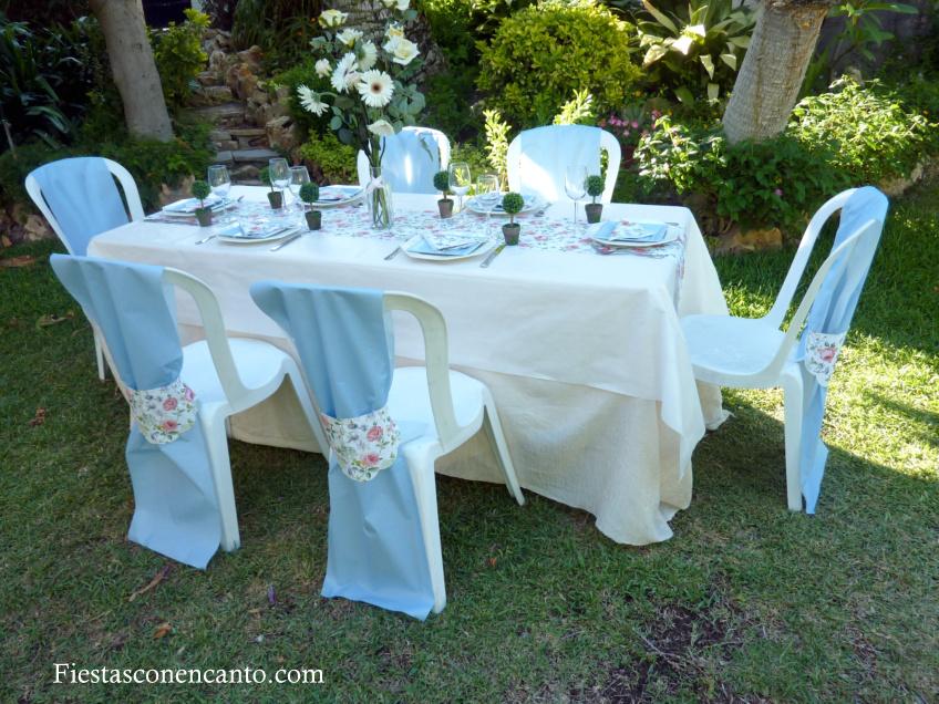 Fiestas con encanto mesa de comuni n o bautizo en rosa y for Mesas para bautizo
